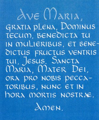 Ave Maria Latin Prayer 99